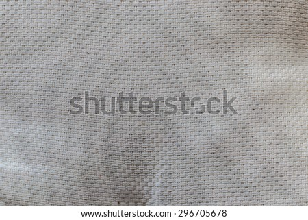 Seamless beige fabric with linen textures.  - stock photo