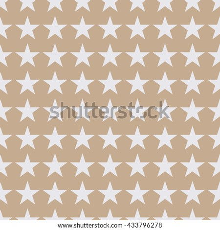 Seamless beige fashion stars pattern