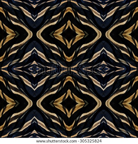 Seamless black and brown background made of zebra's skin patterns in beautiful camouflage livery - stock photo