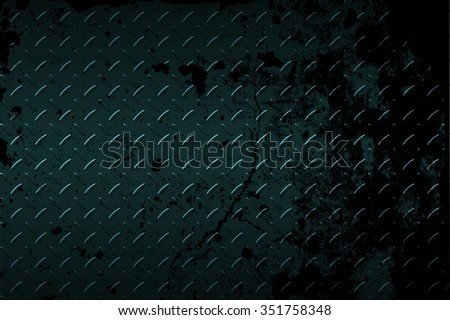 seamless black and green metal background. - stock photo