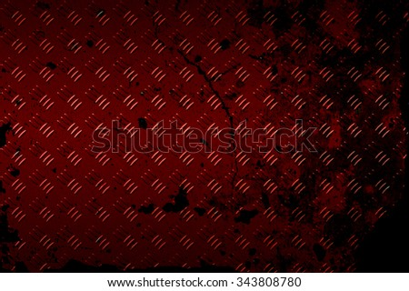 seamless black and red metal background. - stock photo
