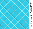 Seamless blue tiles texture background, kitchen or bathroom concept - stock photo