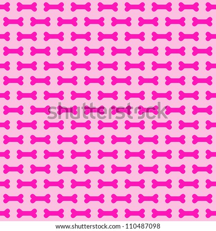 Seamless Bone Pattern - stock photo