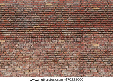 Seamless Bricks Texture Background Brick Wall