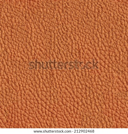 Seamless Brown Leather Texture - stock photo