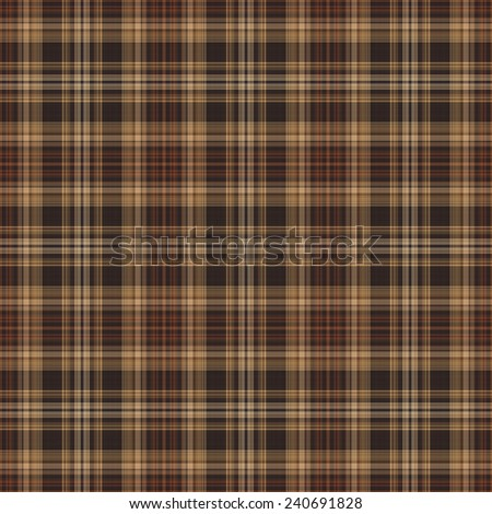 Seamless Brown Plaid Pattern - stock photo