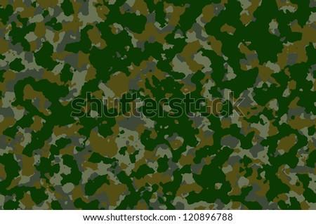 Seamless Camouflage Background - stock photo