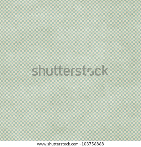 Seamless chess board pattern on vintage paper texture - stock photo