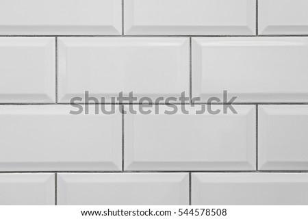 seamless classic white metro ceramic tile texture