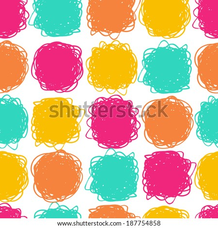 Seamless color hand drawn pattern