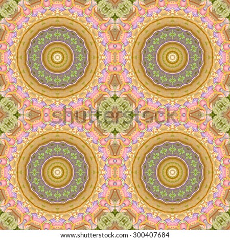 seamless colorful geometric carpet decoration pattern - stock photo