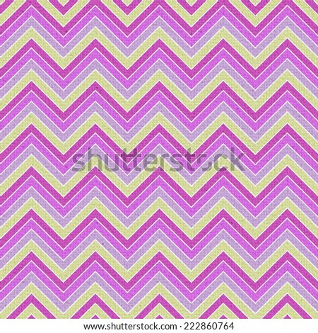 Seamless colorful geometric zigzag pattern in retro colors
