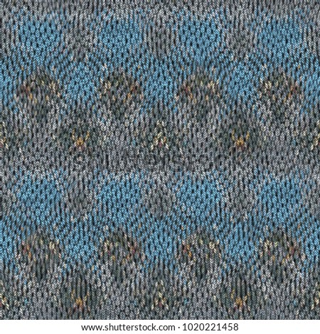 Seamless colorful Knitted fabric texture. Knit pattern background.