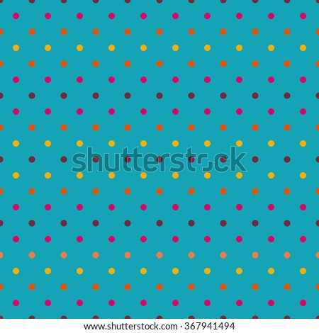Seamless colorful polka dot pattern. Endless background for textile, cards and wrapping paper.