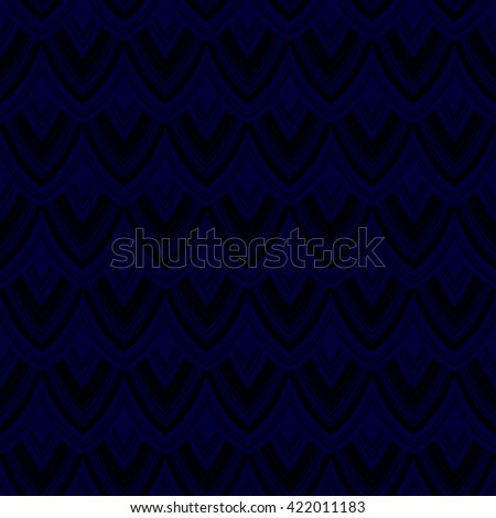 Seamless Colorful Scales Pattern