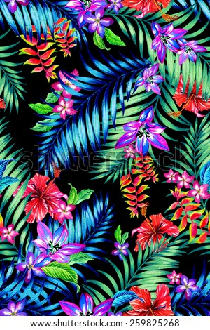 neon bright feather print seamless background stock vector