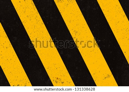 Seamless concrete warning strips texture, background - stock photo