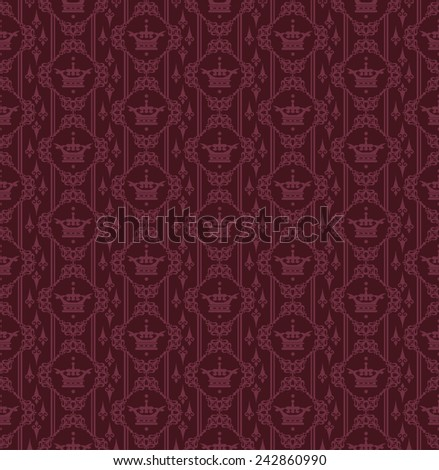 seamless crown background (vintage)