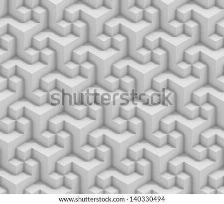 seamless cubical structure - stock photo