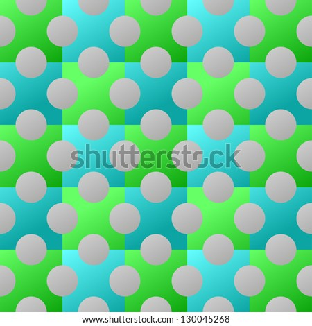Seamless Cyan and Green Background - stock photo