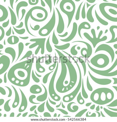 Seamless damask pattern, classic wallpaper, background. Ornamental border in neutral colors on a white background.