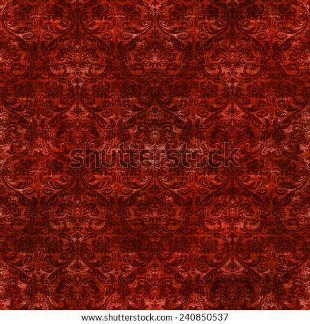 Seamless Damask Tapestry