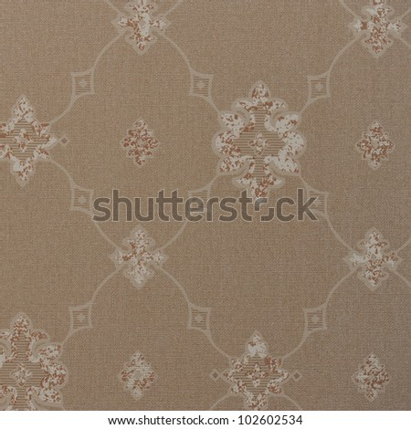 Seamless damask wallpaper texture background - stock photo