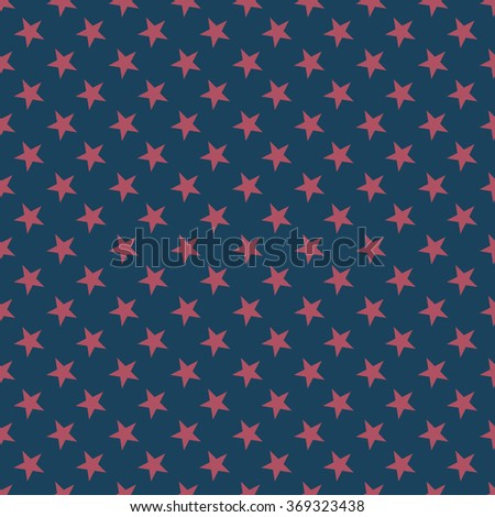 Seamless dark blue and burgundy stars pattern