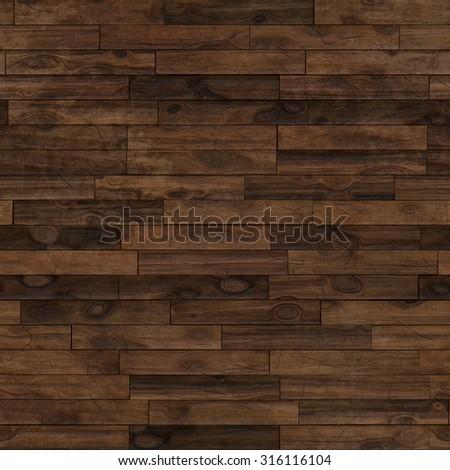 Seamless dark brown laminate parquet floor texture background. - stock photo
