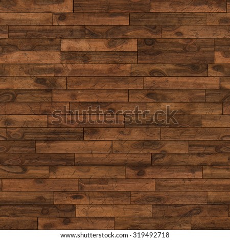 Seamless dark chestnut laminate flooring texture background. - stock photo