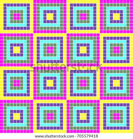 Seamless decorative geometric pattern. ethnic endless background with ornamental decorative elements with traditional etnic motives, tribal geometric figures. Print for wrapping, background