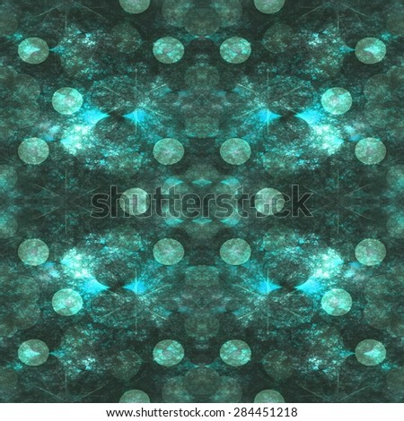 Seamless decorative pattern or background in green spectrum