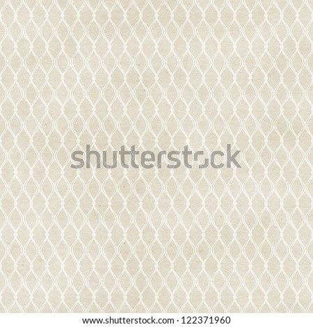 Seamless delicate veil-like pattern on paper texture - stock photo