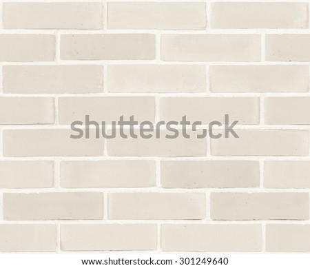 Seamless design vintage style beige cream tone brick wall detailed pattern textured background: Seamless retro grungy brickwork masonry detail backdrop in light white creme brown color tone   - stock photo