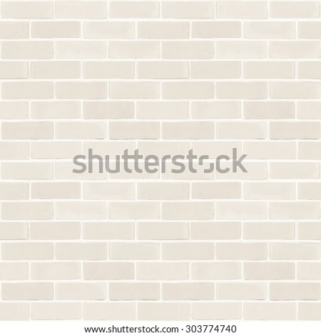 Seamless design vintage style light sepia cream tone brick wall detailed pattern textured  background: Seamless retro grungy brickwork masonry detail square backdrop in beige creme color              - stock photo