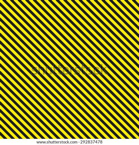 Seamless diagonal background caution pattern - stock photo