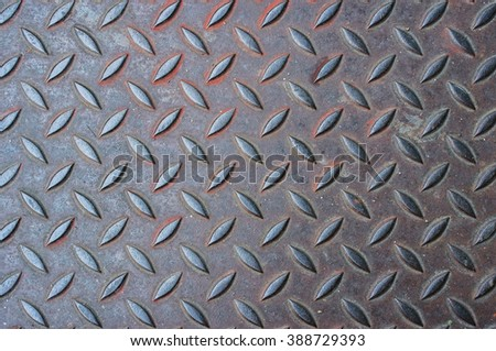 Seamless diamond plate steel texture