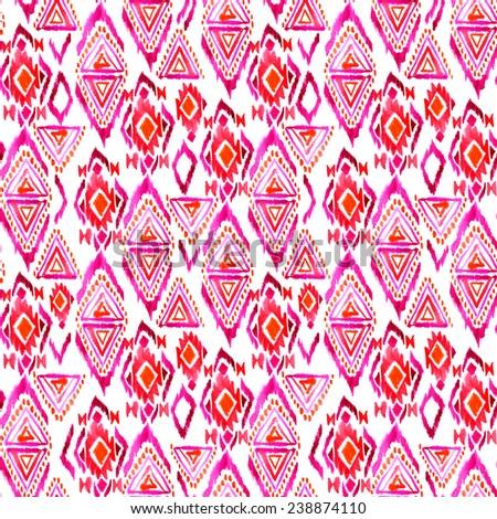 seamless ditsy ethnic ikat pattern.  - stock photo