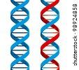 Seamless DNA Symbol on White Background. Rasterized Version - stock photo