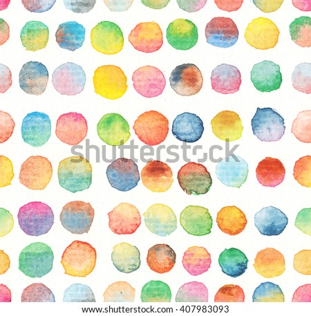 seamless dots pattern watercolor background