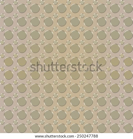 Seamless elevated polka dots background in soft colors on sand paper