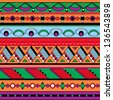 Seamless ethnic background. Mexican, african endless pattern - stock photo