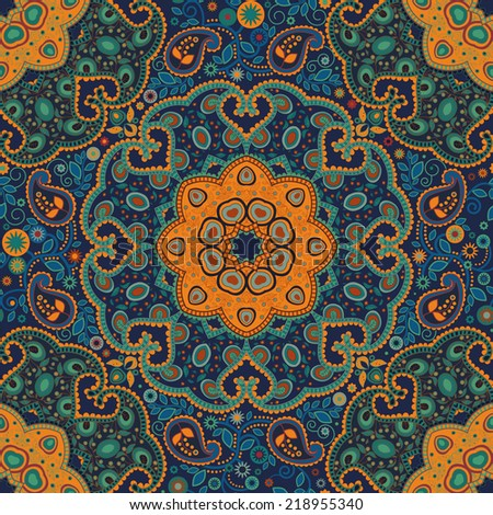 Seamless ethnic pattern. Abstract ornamental background - stock photo