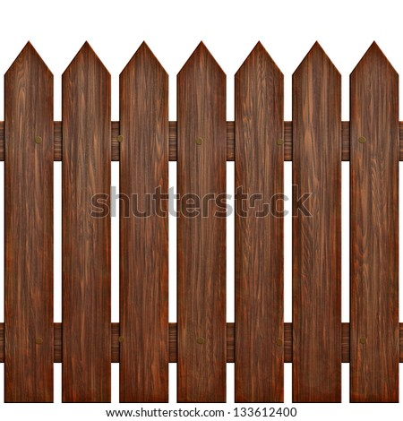 Seamless fence texture (computer graphic, big collection) - stock photo