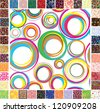 Seamless festive patterns. Raster version - stock photo