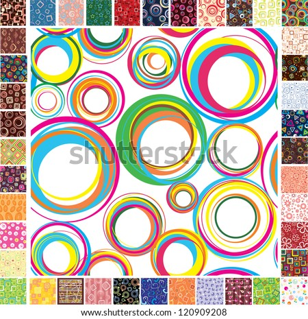 Seamless festive patterns. Raster version - stock photo