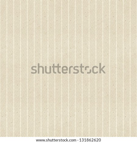 Seamless fine chevron pattern on paper texture - stock photo