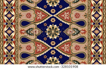 Seamless floral beautiful batik background. Able to repeat for textile printing. - stock photo