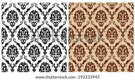 Seamless floral damask pattern for background or wallpaper design. Vector version also available in gallery