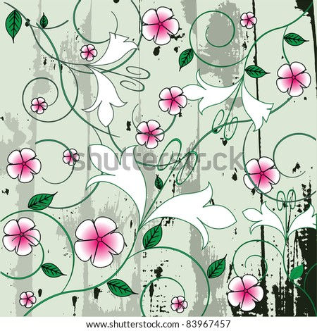 Seamless Floral Decorative - stock photo